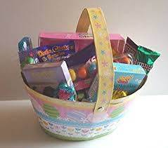 premade easter basket easter basket candy filled easter basket for kids
