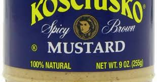 kosciusko mustard yellow deli mustard review kosciusko spicy brown