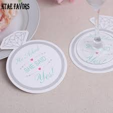 wedding favor coasters 12pcs diamond ring paper coaster wedding favors gifts cup