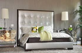 Tufted Headboard Bed Bedroom Design Brilliant Modern Bedroom With Gray Tufted