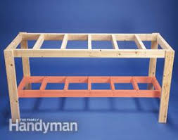 How To Make A Simple Wooden Bench - how to build a diy workbench super simple 50 bench family handyman