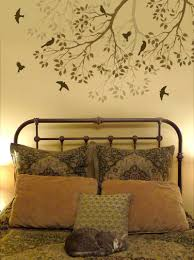 bedroom fascinating headboard stencil pattern this is the old gorgeous stencil headboard headboard stencils for walls bedroom sets