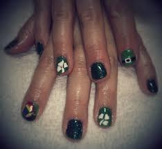 st patrick u0027s day nail art using shellac on natural nails yelp