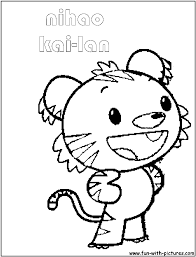 kai lan coloring pages free colouring pages 4933