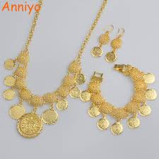 coin jewelry necklace images Anniyo new arab coin jewelry sets gold color necklace 20cm jpg