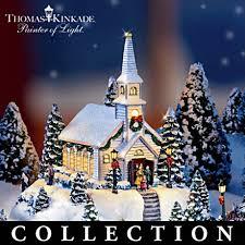 thomas kinkade lighted pictures thomas kinkade lighted animated musical miniature village it s