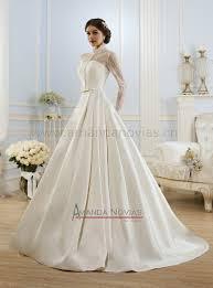 long sleeve satin wedding dresses luxury brides