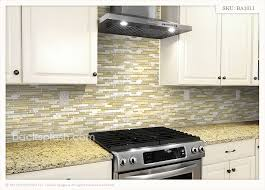 glass tile back splash beige kitchen cabinets new venetian gold