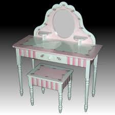 child s dressing table and chair large hand painted child s vanity kid s furniture pinterest