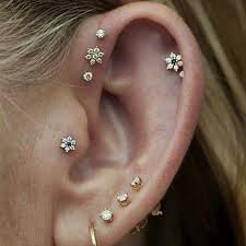 earring pierced ear piercing earrings best 25 ear piercings ideas on ear
