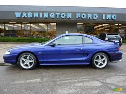 1995 Black Mustang 1995 Sapphire Blue Metallic Ford Mustang Gt Coupe 37225352