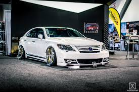 slammed lexus ls460 sema 2013 accuair suspension