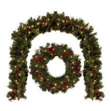 rockport pre lit 24 wreath 6 garland set jcpenney
