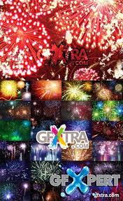 free 25 fireworks psd templates bundle download