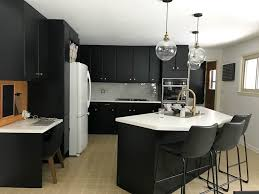 kitchen wall colors with black cabinets how to paint black kitchen cabinets our kitchen renovation