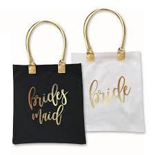 bridal party tote bags gold bridal party tote bag