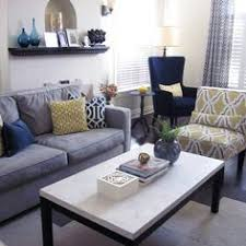 Gray And Yellow Living Room by Creamy White Living Room With Accents Of Very Light Green And Blue
