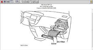 2002 mazda mpv cabin filter smells problem 2002 mazda mpv 6 cyl