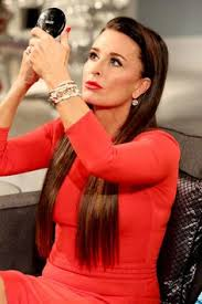 kyle richards hair extensions kyle richards appears different than usual in blouse and jeans