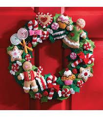 bucilla cookies wreath felt applique kit joann