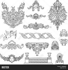antique baroque ornaments vector vector photo bigstock