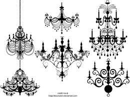 Free Chandelier Clip Art 無料 シャンデリアのイラスト素材 エレガントな2set ベクター