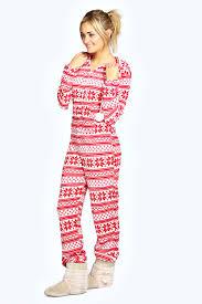 Most Comfortable Pajamas For Women Boohoo Womens Katia Sleepwear Nightwear Snowflake Fairisle Pom Pom