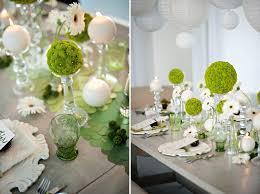 white wedding modern circle inspired green white wedding inspiration