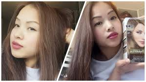 How To Dye Asian Hair Black Hair To Ash Brown Loreal Ul61 2016