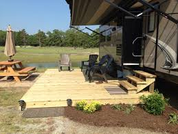 Pinterest Decks by Add Deck For Summer Rv Home For Lovely Outdoor Space Camp Site