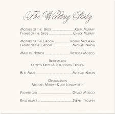 reception program template wedding party program template tolg jcmanagement co