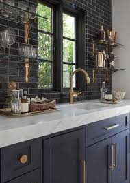 Glass Shelves For Kitchen Cabinets Countertops U0026 Backsplash Black Subway Tile Backsplash Floating