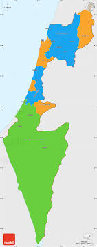 political map of israel political simple map of israel single color outside