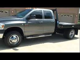 dodge one ton trucks for sale 2008 dodge ram 3500 slt diesel 4x4 flat bed for sale see