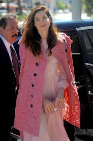 monaghan pretty in pink arrives for an nbc special event in west