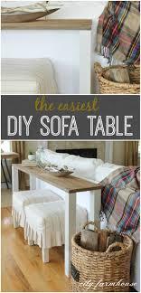 Diy Sofa Table The Easiest Diy Reclaimed Wood Sofa Table City Farmhouse