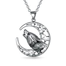 wolf necklace pendant images Howling wolf moon pendant 925 silver jpg