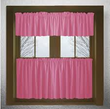 Kitchen Cafe Curtains Solid Hot Pink Fuchsia Kitchen Tier Cafe Curtains