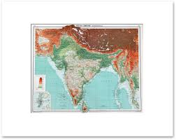 Middle East And Asia Map by Countries Middle East Central Asia Vintage Maps