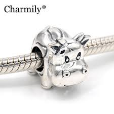 diy pandora charm bracelet images 925 sterling silver cow charm bead diy fits original pandora charm jpg