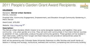 Urban Gardens Denver - community garden