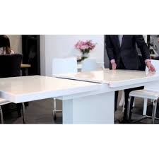 Black Glass Extending Dining Table Evita