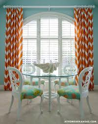 Burnt Orange Curtains Sale Tobi Fairley Turquoise Blue And Orange Dining Room Features