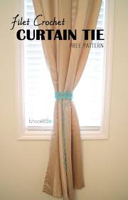how to tie curtains 19 free patterns for crochet curtain tie backs