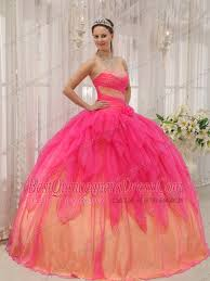coral pink quinceanera dresses gown strapless floor length organza beading quinceanera dress