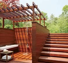 backyard deck ideas with bathroom shower lovely cool backyard