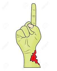zombie hand finger up gesture halloween vector realistic cartoon