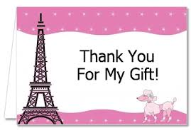 baby shower thank you cards baby shower thank you cards pink poodle in thank you notes