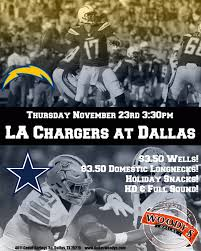 la chargers at dallas cowboys