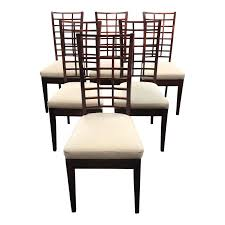 Cherry Dining Chair Custom Cherry Dining Chairs From Poland Set Of Six Design Plus